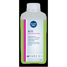 Слабощелочное средство для ежедневной мойки санузлов и ванных комнат, KC12, 1 л (4 шт/упак), арт. 205194