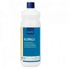Сильнощелочное средство для дезинфекции и очистки поверхностей на основе хлорамина Т, KLORILLI, 1 л (6 шт/упак), арт. 8109