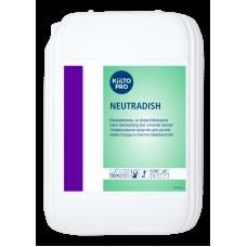 Концентрированное нейтральное  жидкое моющее средство для посуды, KIILTO NEUTRADISH, 10 л, арт. 205041