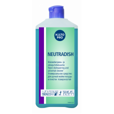 Концентрированное нейтральное  жидкое моющее средство для посуды, KIILTO NEUTRADISH, 1 л (12 шт/упак), арт. 205136