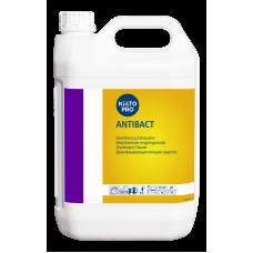 Слабощелочное дезинфицирующее  моющее средство. Дезинфицирующий компонент - ЧАСы, KIILTO ANTIBACT, 5 л (3 шт/упак), арт. 205078