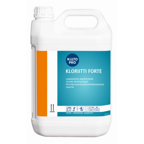 Дезинфицирующее средство для обработки скорлупы яиц, KIILTO KLORIITTI FORTE, 5 л (3 шт/упак), арт. 205157, Kiilto