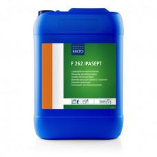 Жидкое дезинфицирующее средство на основе четвертичных соединений аммония, F 262 IPASEPT, 10 л, арт. 205082