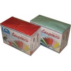 Салфетки сервировочные бумажные Lime 2 слоя 33*33 см 125 шт., желтый, арт. 740800