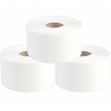 Туалетная бумага в рулонах, диаметр втулки 6 см, 2 слоя, 180 м, белый (12 шт/упак), арт. 10.180