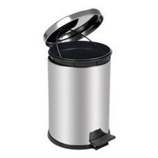 Контейнер Lime для мусора с педалью, 16 л, хром, арт. A55016