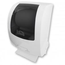Диспенсер для бумажных полотенец Matic в рулонах, механический, белый+прозрачный, арт. HF108