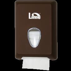 Диспенсер для туалетной бумаги листовой V-укладки, коричневый (покрытие Soft touch), арт. A62201MAS
