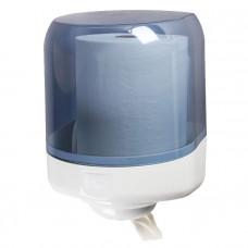 Диспенсер Lime для бумажных полотенец с центральной вытяжкой MAXI (350м), без дозатора, белый+прозрачный, арт. A58101S