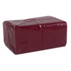 Салфетки сервировочные бумажные Lime 1 слой 24*24 см 400 шт., бордо, арт. 410400