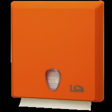 Диспенсер на 2,5 пачки бумажных полотенец Z-сложения, оранжевый (покрытие Soft touch), арт. A70610EAS