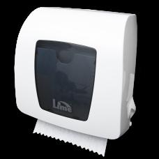 Диспенсер для бумажных полотенец Matic Mini в рулонах, механический, белый+прозрачный, арт. HF106
