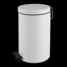 Контейнер Lime для мусора с педалью, 13 л, белый, арт. A64611