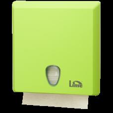 Диспенсер на 2,5 пачки бумажных полотенец Z-сложения, зеленый (покрытие Soft touch), арт. A70610EVS