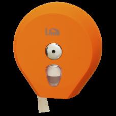 Диспенсер для туалетной бумаги в рулонах до 200 м, оранжевый (покрытие Soft touch), арт. A75610ARS