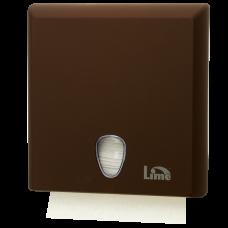 Диспенсер на 2,5 пачки бумажных полотенец Z-сложения, коричневый (покрытие Soft touch), арт. A70610EMS