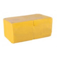 Салфетки сервировочные бумажные Lime 1 слой 24*24 см 400 шт., желтый, арт. 410800