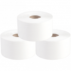 Туалетная бумага в рулонах, диаметр втулки 6 см, 1 слой, 200 м, первый сорт, серый