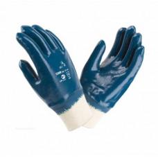 Перчатки нитриловые полный облив трикотажный манжет резинка