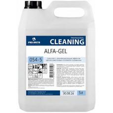 Alfa-Gel, 5 л, Средство с дезинфицирующим эффектом против известковых отложений и ржав, арт 054-5