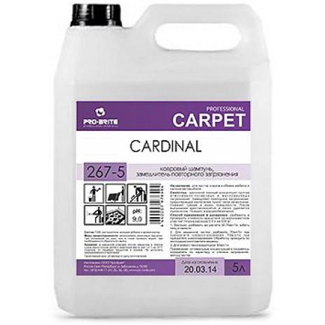 Cardinal, Ковровый шампунь, замедлитель повторного загрязнения, 5 л, арт. 267-5, Pro-Brite