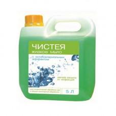 Мыло жидкое с антибактериальным эффектом Чистея 5 л.