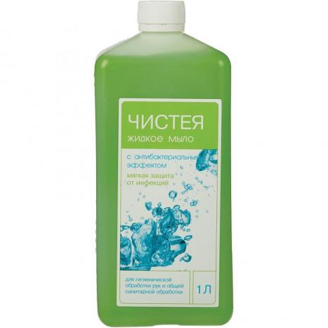 Мыло жидкое с антибактериальным эффектом Чистея 1 л.