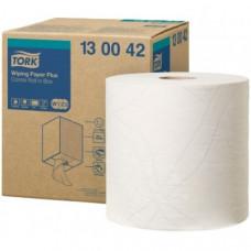 Протирочная бумага в рулоне со съемной втулкой Tork Плюс Advanced, 750 листов, 2 слоя, размер 225*25,8 см, белый, W1/W2/W3, арт. 130042