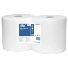 Бумага протирочная TORK Universal W1/2 2 слоя, 800 листов, 25,5 см, белая (2 шт/упак), арт. 509253