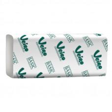 Полотенца для рук в пачках V-сложение, 1 слой, 21*21,6 см, 250 л, белый, (белизна 60%) (V / ZZ-сложение) (20 шт/упак), арт. V1-250