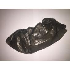 Бахилы черные полиэтиленовые, 2,5 г/, 40 мкн,  (100 шт/упак)