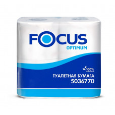 Бумага туалетная Focus Optimum, 2 слоя,12.5 * 9.5, 22 м, 180 л, белый (4 шт/упак), арт. 5036770