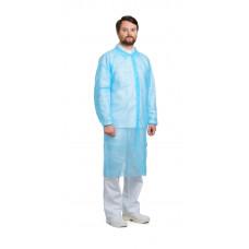 Халат посетителя спанбонд 30гр/кв.м 120*140см, голубой (10 шт/упак)