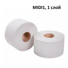 Бумага туалетная в рулонах MIDI1, 200 м, 12 шт/упак, арт. MIDI1
