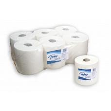 Бумажные полотенца в рулонах с центральной вытяжкой Терес Комфорт 1-слой, maxi, 300 м, белая целлюлоза (6 шт/упак), арт. Т-0150