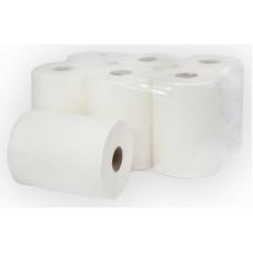 Бумажные полотенца в рулонах Терес Комфорт 1-слой, midi, 170 м, белая целлюлоза, тиснение (6 шт/упак), арт. Т-0110А