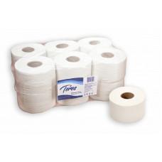 Туалетная бумага в рулонах Терес Эконом Плюс 1-слой, mini, 200 м, отбеленая макулатура (12 шт/упак), арт. Т-0024