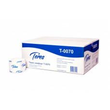 Туалетная бумага листовая Терес Комфорт 2-слоя, 250 листов, белая целлюлоза (40 шт/упак), арт. Т-0070