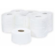 Туалетная бумага в рулонах Терес Комфорт 2-слоя, mini, 120 м, белая целлюлоза, тиснение (12 шт/упак), арт. Т-0040
