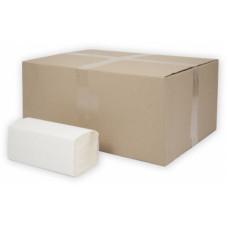 Бумажные полотенца листовые Терес Стандарт 1-слой, 250 листов, белая целлюлоза (25 г/м), тиснение (V / ZZ-сложение) (20 шт/упак), арт. Т-0225