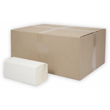 Бумажные полотенца листовые Терес Стандарт 1-слой, 250 листов, белая целлюлоза (25 г/м), тиснение (V / ZZ-сложение) (20 шт/упак), арт. Т-0225, Терес
