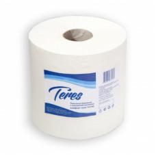Бумажные полотенца в рулонах с центральной вытяжкой Терес Комфорт 1-слой, maxi, 235 м, белая целлюлоза, тиснение (6 шт/упак), арт. Т-0153
