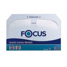 Индивидуальные покрытия на унитаз FOCUS, 250 листов, 1 слой, 44*37 см, арт. 8033648
