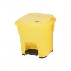 Контейнер Vileda ГЕРА с педалью и крышкой 35 л, желтый, с наклейками для сортировки, арт.137748
