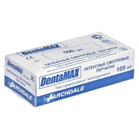 Перчатки латексные смотровые неопудренные Denta Max, S, 100 шт/уп, арт. A-0160, Archdale