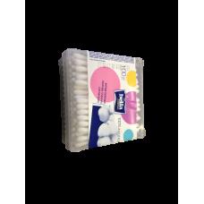 Ватные палочки «Белла» 100шт., пластиковая коробка, арт. 1375