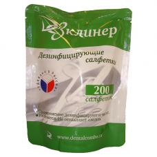 Дезинфицирующие салфетки ДЕЗКЛИНЕР 200 шт/пач. (сменный блок)