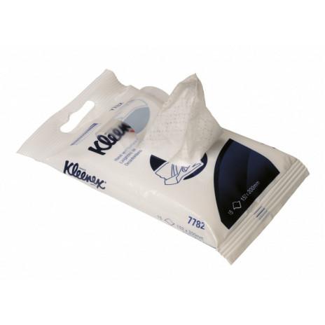 Дезинфицирующие протирочные салфетки Kleenex для рук и поверхностей, 15 листов, арт. 7782, Kimberly-Clark