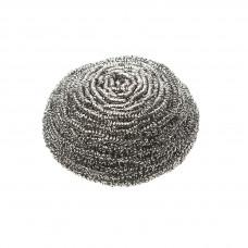 Губка металлическая, 8 см, 40 гр  (нержавеющая сталь; 95х90х45 мм)