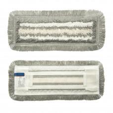 Моп комбинированный, крепление карман и язык, 40 см (хлопок, полиэстр, полипропилен; 410х120 мм)